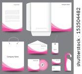 stationery template design | Shutterstock . vector #153504482