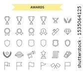 awards vector icons set outline ...   Shutterstock .eps vector #1535064125