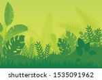 tropical forest landscape with... | Shutterstock .eps vector #1535091962