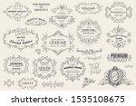 creative vintage elements set... | Shutterstock .eps vector #1535108675