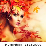 Autumn Woman Portrait. Beauty...