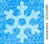 vector background of geometric... | Shutterstock .eps vector #153513485