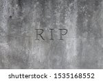 Old Gray Stone Headstone With...