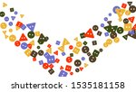 festive background with... | Shutterstock .eps vector #1535181158
