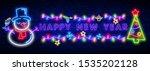 lettering neon sign. neon sign. ... | Shutterstock .eps vector #1535202128