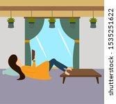 traditional hygge scenario.... | Shutterstock .eps vector #1535251622
