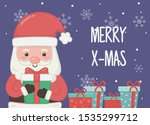 santa with many gifts... | Shutterstock .eps vector #1535299712
