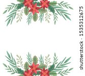 beauty christmas flowers and... | Shutterstock .eps vector #1535312675