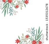beauty christmas flowers and... | Shutterstock .eps vector #1535312678
