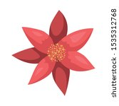 beauty christmas flower... | Shutterstock .eps vector #1535312768