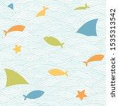 sea life pattern. vector...   Shutterstock .eps vector #1535313542