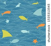 sea life pattern. vector...   Shutterstock .eps vector #1535313545