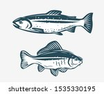 fishs such as trout and carp.... | Shutterstock .eps vector #1535330195
