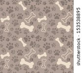 seamless background   dog paw... | Shutterstock .eps vector #153538895