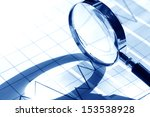business concept. magnifying... | Shutterstock . vector #153538928