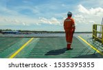 Ferry Ship Crew Worker In...