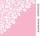 Pearl And Lace Border On Pink...