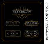 vintage black and gold art deco ... | Shutterstock .eps vector #1535448278