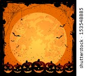 halloween night background with ... | Shutterstock .eps vector #153548885