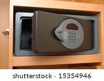 close up of a safe box in closet | Shutterstock . vector #15354946
