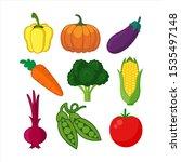 vegetables illustration design... | Shutterstock .eps vector #1535497148