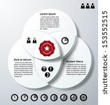 infographics with three 3d... | Shutterstock .eps vector #153552515