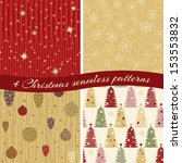 collection of 4 seamless... | Shutterstock .eps vector #153553832