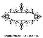 old grunge frame with floral... | Shutterstock . vector #153555746