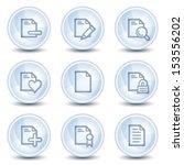 document web icons set 2  light ... | Shutterstock .eps vector #153556202
