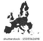 all european union counties map ... | Shutterstock .eps vector #1535562698