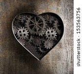 Metal Heart With Rusty Gears...