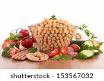 chickpea salad | Shutterstock . vector #153567032