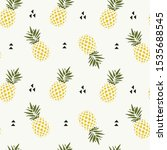 Seamless Pattern Love Pineapple ...
