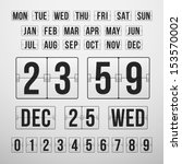 vector countdown timer and date ... | Shutterstock .eps vector #153570002