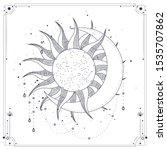 vector illustration set of moon ... | Shutterstock .eps vector #1535707862