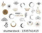 vector witch magic design... | Shutterstock .eps vector #1535761415