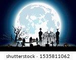 halloween background with... | Shutterstock .eps vector #1535811062