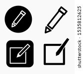 set edit vector icon... | Shutterstock .eps vector #1535812625