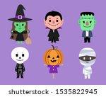 set of halloween characters... | Shutterstock .eps vector #1535822945