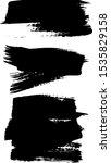 set of black paint  ink brush... | Shutterstock .eps vector #1535829158