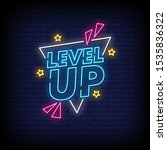 level up neon signs style text... | Shutterstock .eps vector #1535836322