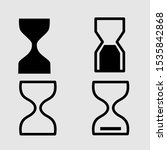 set hourglass vector icon in...
