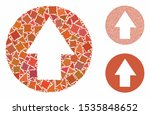 up direction mosaic of unequal...   Shutterstock .eps vector #1535848652