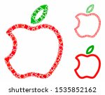 contour apple mosaic of inequal ... | Shutterstock .eps vector #1535852162