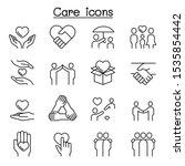 care  kindness  generous icon... | Shutterstock .eps vector #1535854442