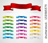 colorful ribbons set | Shutterstock .eps vector #153585575