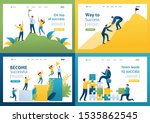 set flat 2d concepts become... | Shutterstock .eps vector #1535862545