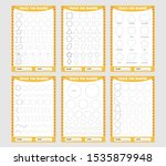yellow set of trace the... | Shutterstock .eps vector #1535879948