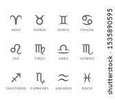 set of zodiac signs and symbols ... | Shutterstock .eps vector #1535890595