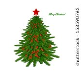 christmas tree. illustration. | Shutterstock . vector #153590762